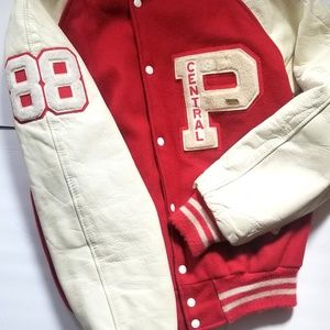 Varsity Jacket Red and White '88